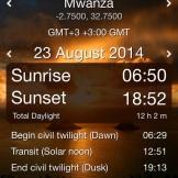 Arrival in Mwanza