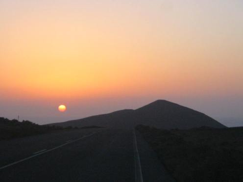Sunset Mountains in Lanzarote