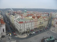 Prague looking down from the Old Town Hall Tower