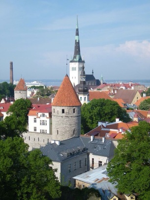 Looking down on Tallinn Old City from Toompea Castle