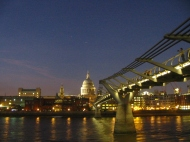 View of St Pauls and the Thames at Night - London