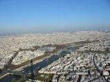 Paris from the top of the Eiffel Tower (shadow to the left)