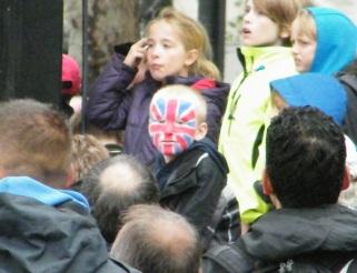 Boy in the crowd - Jubilee Flotilla - London - UK
