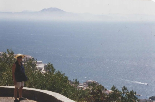 Looking down on the Straits of Gibraltar from the Rock