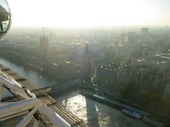 Looking down on London from the Eye