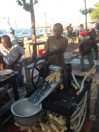 Freshly Squeezed Sugar Cane Juice (in Zanzibar but seen in Mwanza too!)