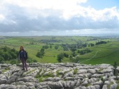 View from the top of Malham Cove, North Yorkshire