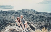 Volcano on Santorini, Greece