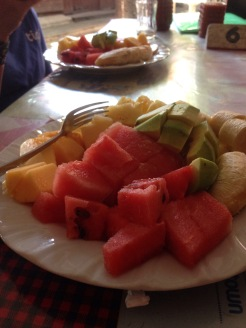 Fresh Pineapple, Papaya, Water Melon, Banana and Avocado