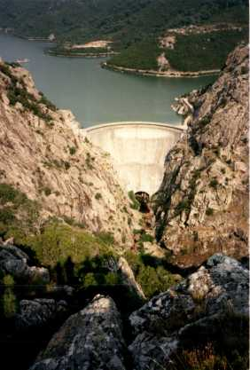 Mountain view of Dam on Corsica