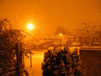 Orange Snow 001