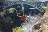 Zip Wire at Victoria Falls
